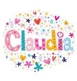 Claudia name design vector image vector image
