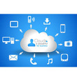 Cloud Computing concept background with a lot of vector image vector image