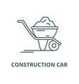 construction car line icon linear concept vector image vector image