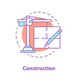 construction industry concept icon vector image vector image
