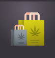 craft paper bags medical marijuana cannabis vector image