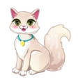 Cute cartoon pretty white girl cat vector image vector image