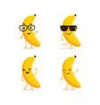 cute set of banana fruit character