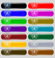 Cyclist icon sign Set from fourteen multi-colored vector image vector image