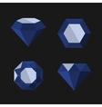 Dark Blue Diamond Icons Set vector image vector image