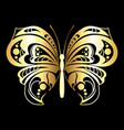 decorative silhouette butterfly vector image