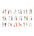 flat set quarreling people women and vector image vector image