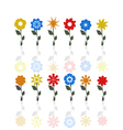 flowers on a stem vector image vector image