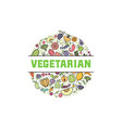 fruits and vegetables vegetarian banner isolated vector image vector image