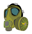 gas mask protective wear isolated vector image