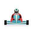 Go kart racer isolated icon