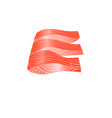 graphic red fish vector image