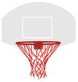 Grey basketball basket vector image
