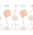 hand drawn delicate flowers seamless pattern vector image vector image