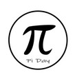 happy pi day icon on white background flat style vector image vector image