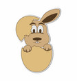 hatching easter bunny eggs sticker concept vector image