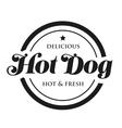 hot Dog bread sausage mustard vintage stamp vector image