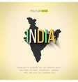 india map in flat design Indian border and vector image vector image