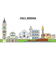 italy messina city skyline architecture vector image vector image