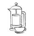 kettle kitchen utensil vector image vector image