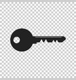 key icon in flat style isolated unlock symbol for vector image vector image