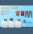 laundry service design with washing machine vector image