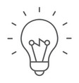 light bulb thin line icon e learning education vector image vector image