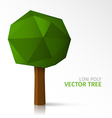 Low poly tree vector image vector image
