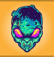 monster alien galaxy vector image vector image