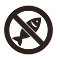no fishing allowed vector image vector image