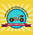 off road buggy car competition banner vector image vector image