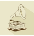 old gramophone drawing isolated icon design vector image vector image