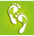 paper foot prints vector image