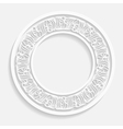 paper ornamental round frame vector image vector image