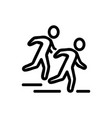 people running forward icon outline vector image vector image