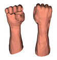 protest fist for low poly vector image vector image