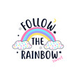 rainbow for t-shirt design vector image vector image