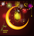 ramadan kareem greeting card design with vector image