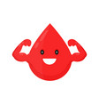 red blood happy cute smiling drop vector image