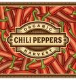 Retro Chili Pepper Harvest Label vector image vector image