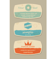 retro design card set vector image