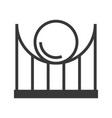 roller coaster icon amusement park related solid vector image