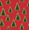 seamless merry christmas festive pattern with tree vector image vector image