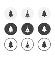 set 3 simple design christmas tree icons vector image