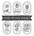 set of hand drawn gift shop labels in vector image vector image