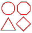 set of roadsigns circle octagon stop sign vector image vector image