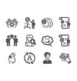 set people icons such as discount vector image vector image