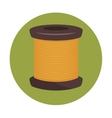 sewing thread isolated icon design vector image vector image