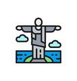 statue christ redeemer brazil vector image vector image