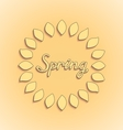 Sunshine spring card design vector image